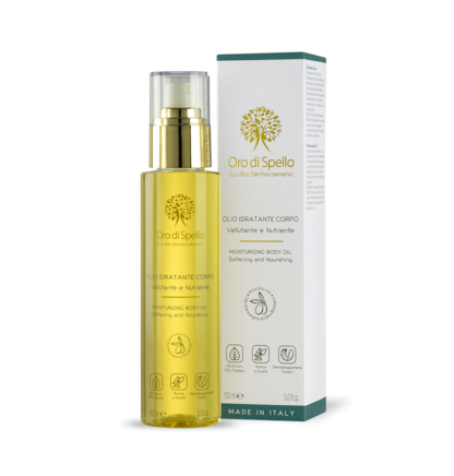olio idratante corpo olio d'oliva oro di spello